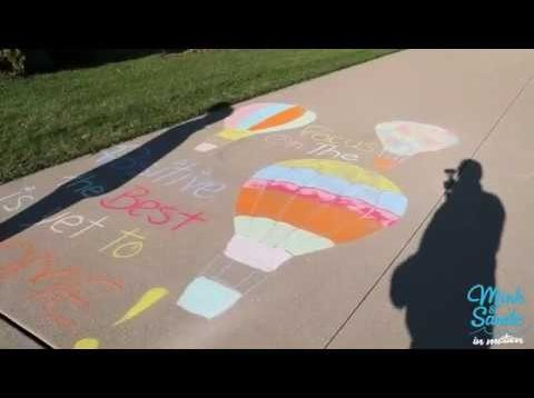 Beautiful, positive chalk art.