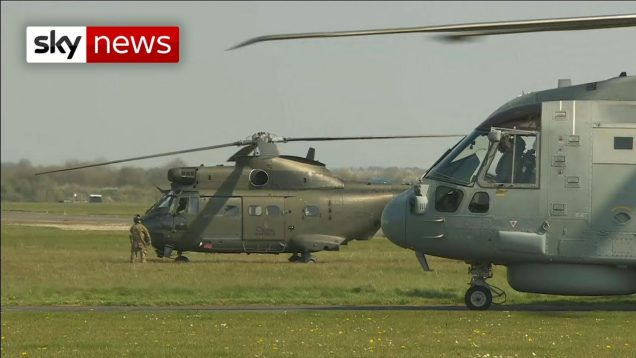 UK Army helicopters
