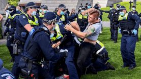 Anti-lockdown protests turn violent in Melbourne