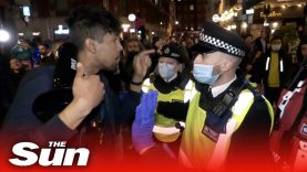 Cops clash with drinkers in London before capital is plunged into Tier 2 coronavirus lockdown