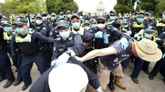 Hundreds protest Melbourne's harsh lockdowns screaming 'sack Dan'
