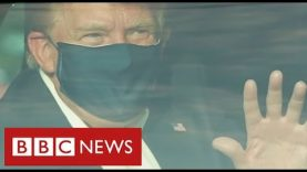 """Trump says he's """"feeling great"""" and leaving hospital – BBC News"""