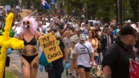 Experimental bio-warfare': Melbourne anti-vax protesters condemn COVID vaccine