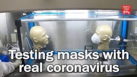 Researchers test mask using coronavirus