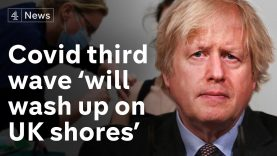Johnson warns Covid third wave 'will wash up on our shores'