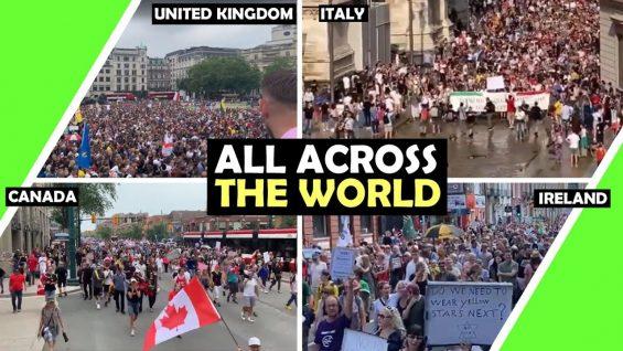 All ACROSS The World Freedom Rally July 24th / Hugo Talks #lockdown