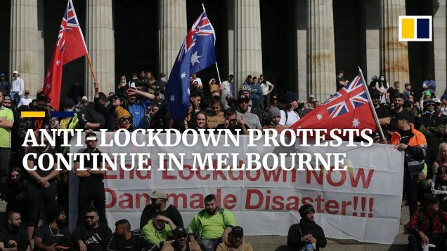 australia sees Covid-19 vaccine mandate protests continue for third day in Melbourne