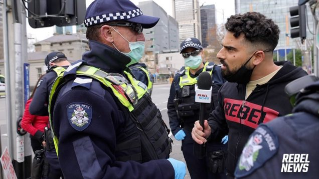 Covid-cops mess with the WRONG journalist!