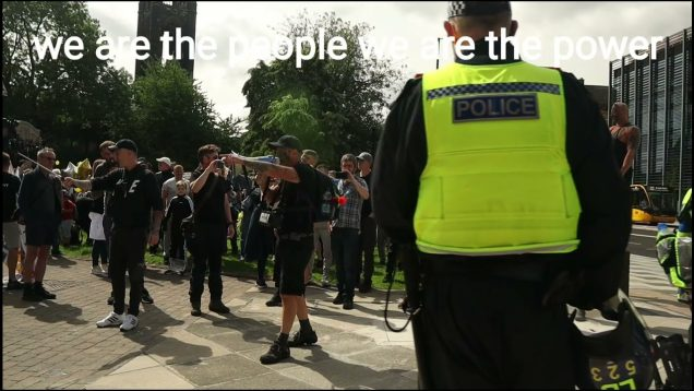 Freedom warrior tells police i would die on my feet for the children (Newcastle rise up)