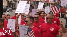 Newark firefighters, police protest vaccination mandate