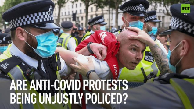 Global accusations of police brutality against anti-Covid restrictions protesters